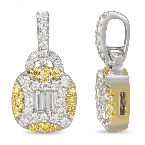 6F056016AUPDYD 18KT Yellow Diamond Pendant