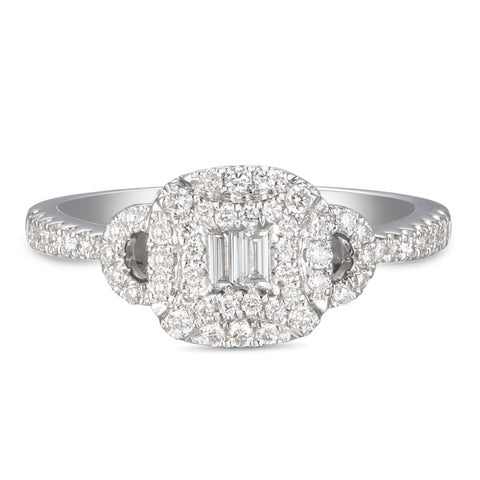 6F056017AWLRD0 18KT White Diamond Ring