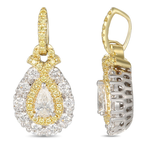 6F056018AUPDYD 18KT Yellow Diamond Pendant