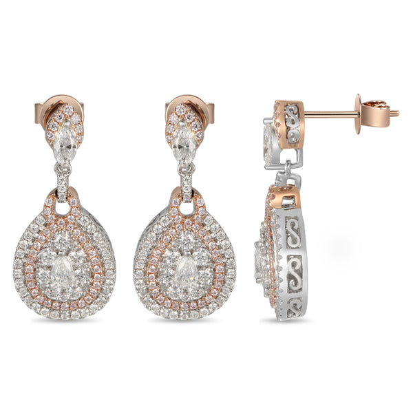 6F056025AQERPD 18KT Pink Diamond Earring