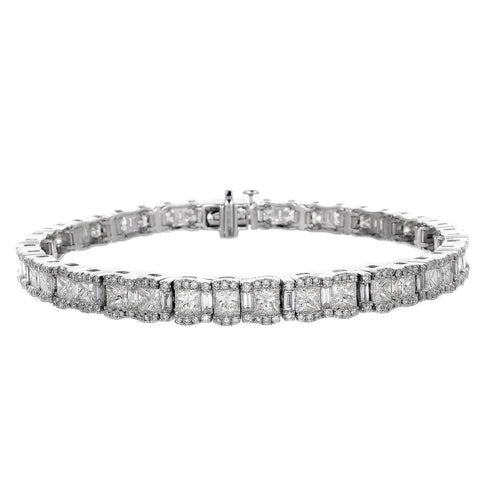 6F056026AWLBD0 18KT White Diamond Bracelet