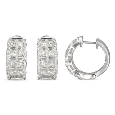 6F056028AWERD0 18KT White Diamond Earring