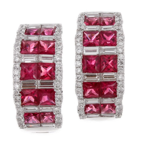 6F056028AWERDR 18KT Ruby Earring