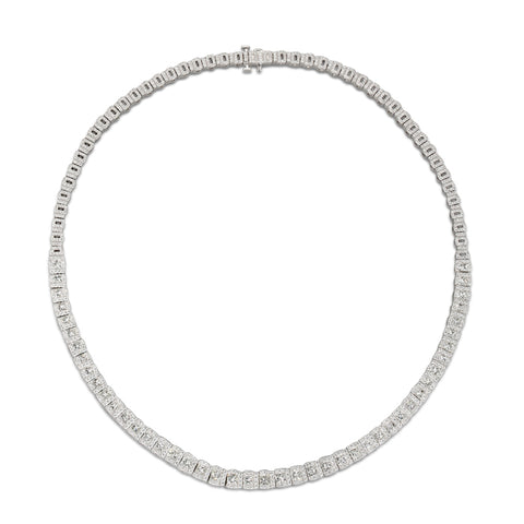 6F056052AWCHD0 18KT White Diamond Necklace