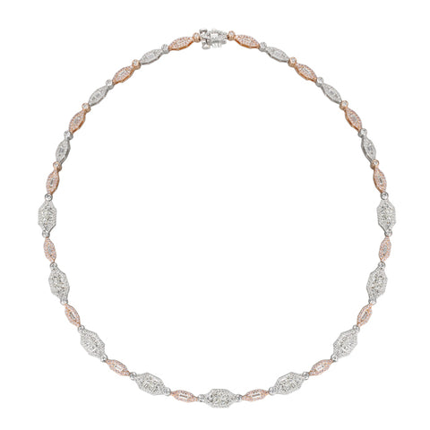 6F056053AQCHPD 18KT Pink Diamond Necklace