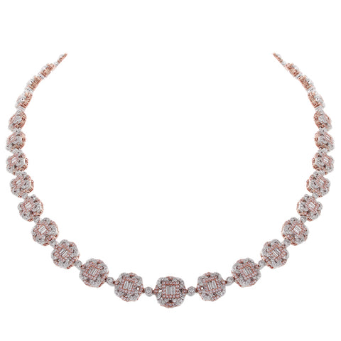 6F056104AQCHPD 18KT Pink Diamond Necklace