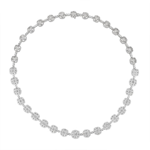 6F056104AWCHD0 18KT White Diamond Necklace