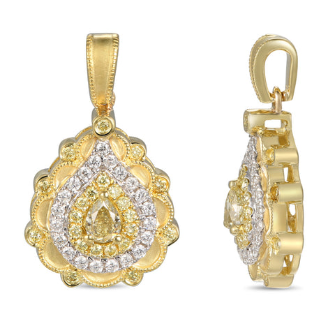 6F056924AUPDYD 18KT Yellow Diamond Pendant