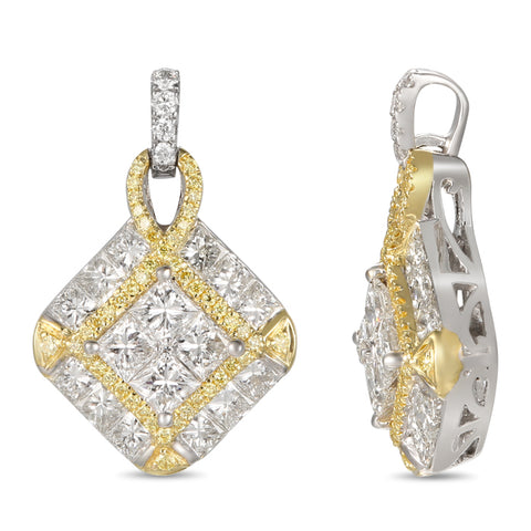 6F056979AUPDYD 18KT Yellow Diamond Pendant