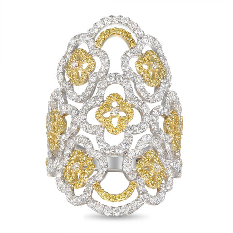 6F057110AULRYD 18KT Yellow Diamond Ring