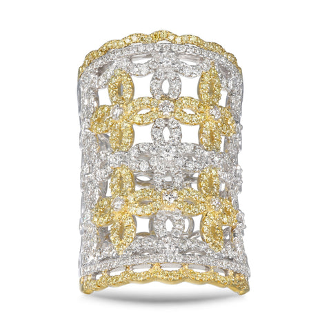 6F057111AULRYD 18KT Yellow Diamond Ring