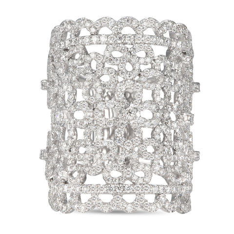 6F057114AWLRD0 18KT White Diamond Ring