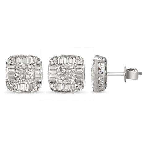 6F059176AWERD0 18KT White Diamond Earring