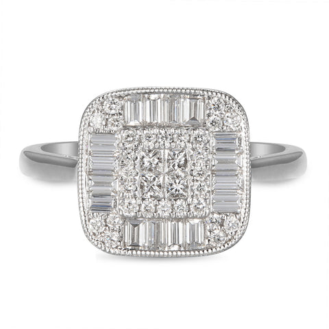 6F059178AWLRD0 18KT White Diamond Ring