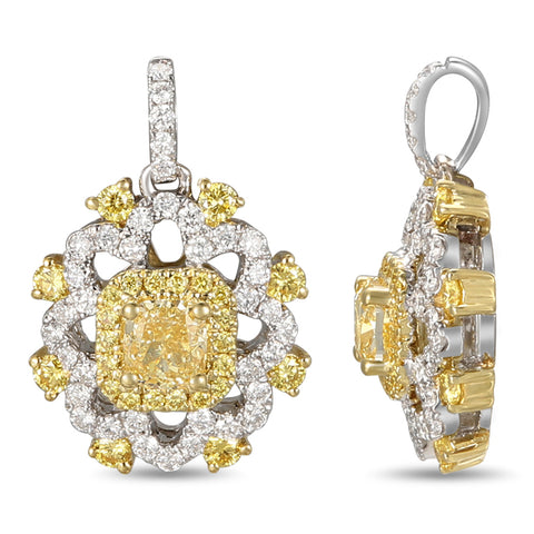 6F059179AUPDYD 18KT Yellow Diamond Pendant