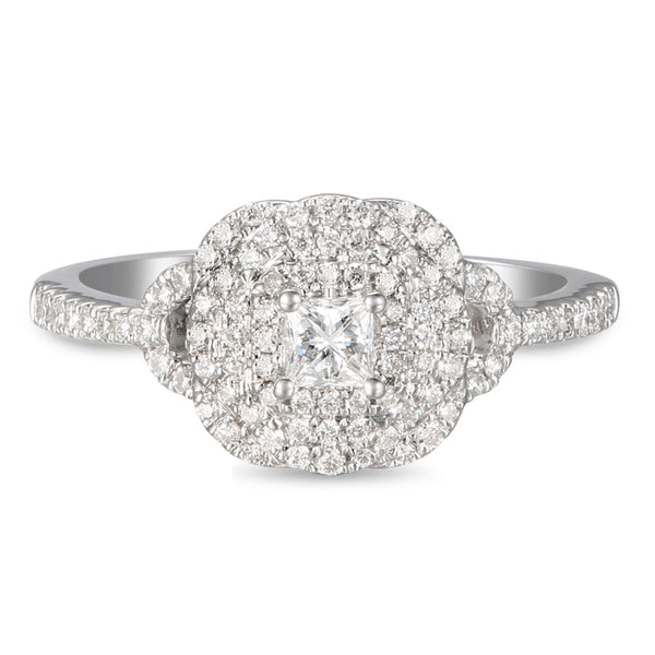 6F059181AWLRBD0 18KT White Diamond Ring