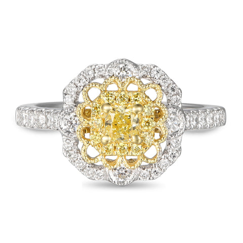 6F059182AULRBYD 18KT Yellow Diamond Ring