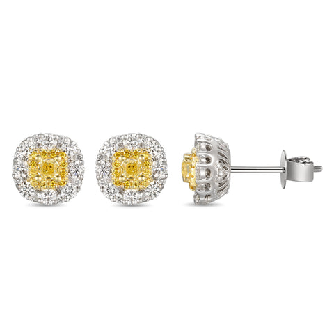 6F059193AUERYD 18KT Yellow Diamond Earring
