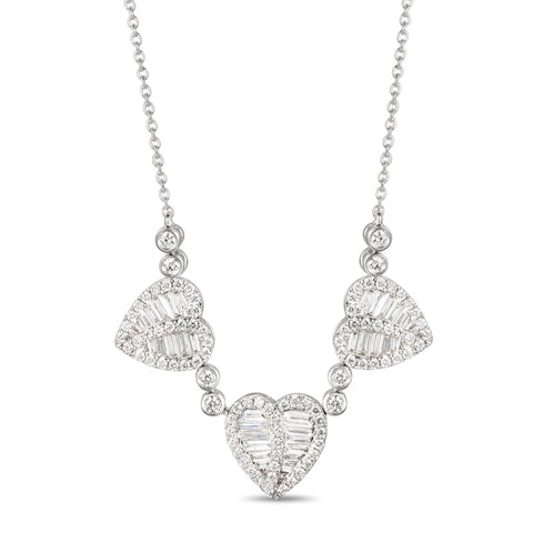 6F059194AWCHD0 18KT White Diamond Necklace