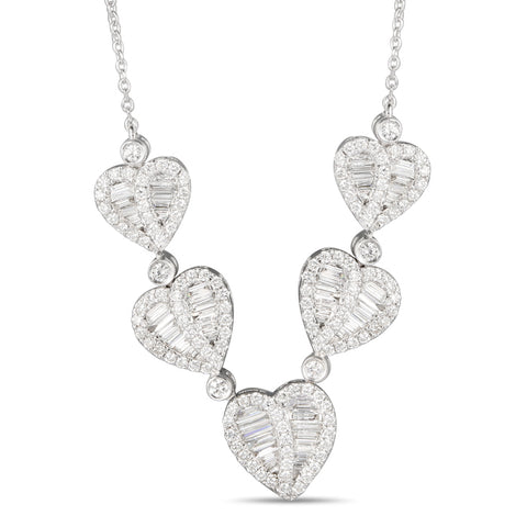 6F059210AWCHD0 18KT White Diamond Necklace