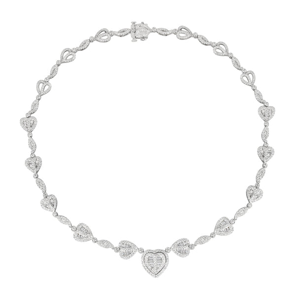 6F059211AWCHD0 18KT White Diamond Necklace