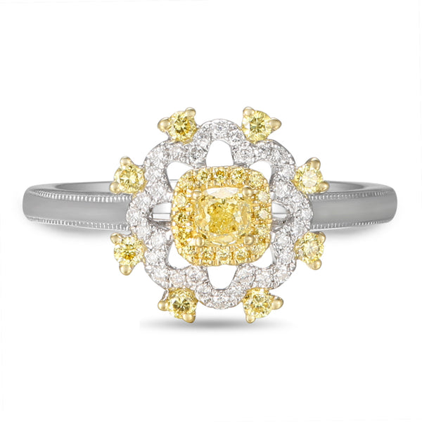 6F059212AULRYD 18KT Yellow Diamond Ring