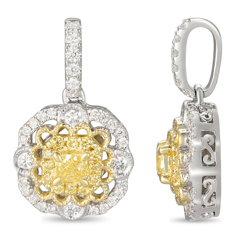 6F059213AUPDYD 18KT Yellow Diamond Pendant