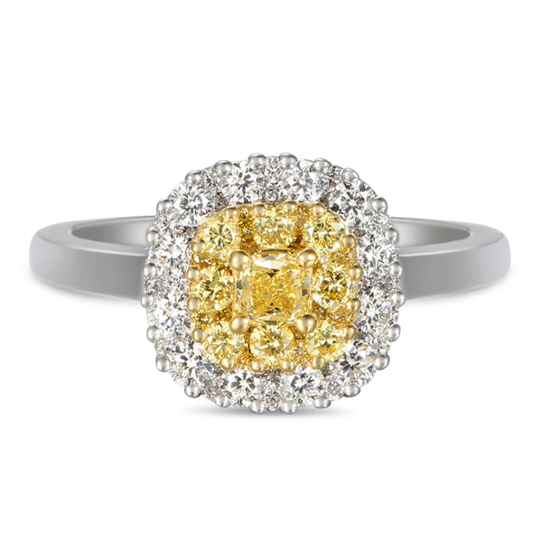 6F059348AULRBYD 18KT Yellow Diamond Ring