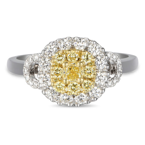 6F059349AULRBYD 18KT Yellow Diamond Ring
