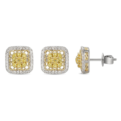 6F059351AUERYD 18KT Yellow Diamond Earring