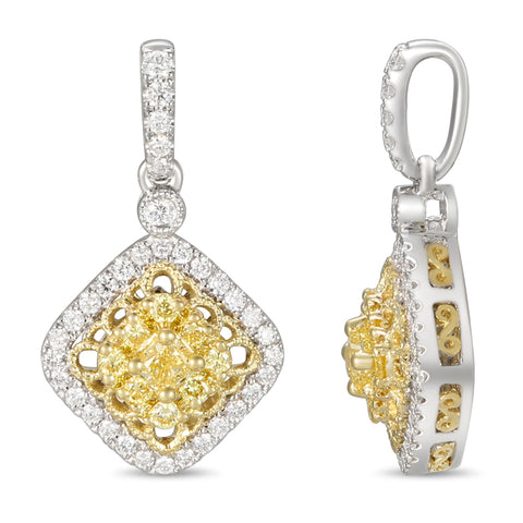 6F059352AUPDYD 18KT Yellow Diamond Pendant