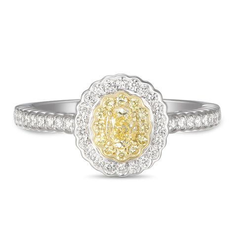 6F059367AULRBYD 18KT Yellow Diamond Ring