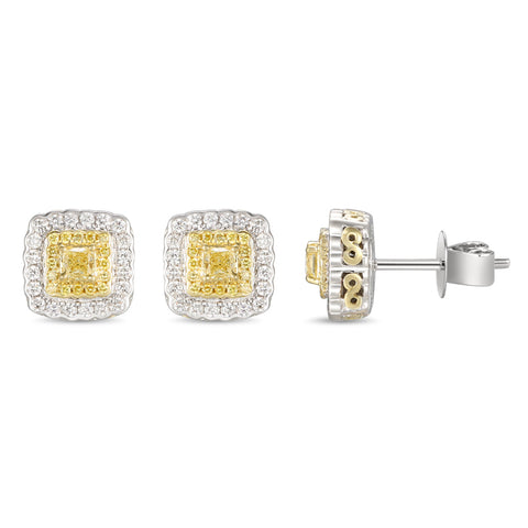 6F059375AUERYD 18KT Yellow Diamond Earring