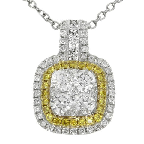 6F059648AUPDYD 18KT Yellow Diamond Pendant