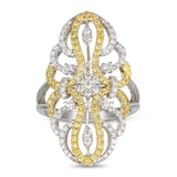 6F060555AULRYD 18KT Yellow Diamond Ring