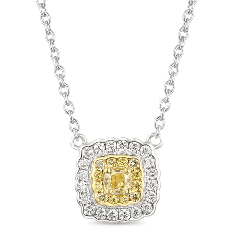 6F060608AUPDYD 18KT Yellow Diamond Pendant