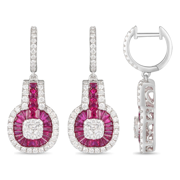 6F063669AWERDR 18KT Ruby Earring