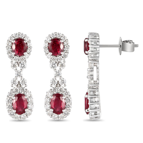 6F065172AWERDR 18KT Ruby Earring