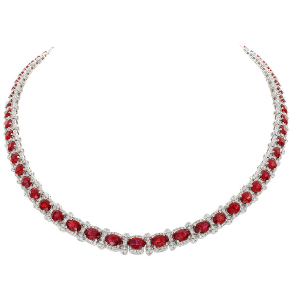 6F065175AWCHDR 18KT Ruby Necklace