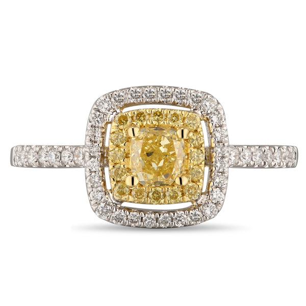6F067115AULRBYD 18KT Yellow Diamond Ring