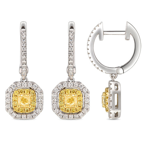 6F067116AUERYD 18KT Yellow Diamond Earring