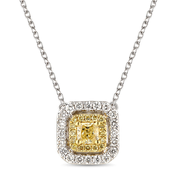 6F067117AUPDYD 18KT Yellow Diamond Pendant