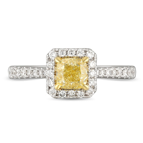 6F067119AULRYD 18KT Yellow Diamond Ring