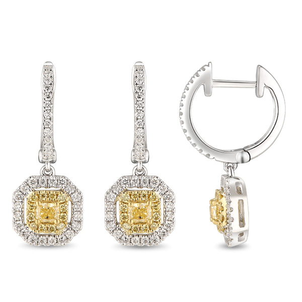 6F067296AUERYD 18KT Yellow Diamond Earring