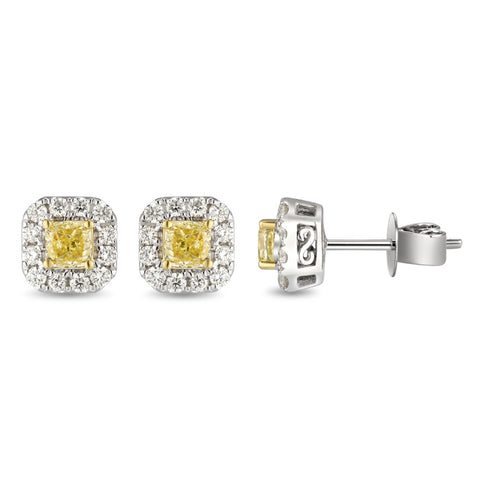 6F067297AUERYD 18KT Yellow Diamond Earring