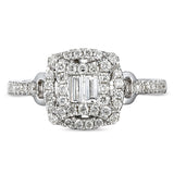 6F067566AWLRD0 18KT White Diamond Ring