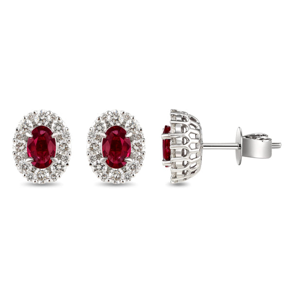 6F067878AWERDR 18KT Ruby Earring