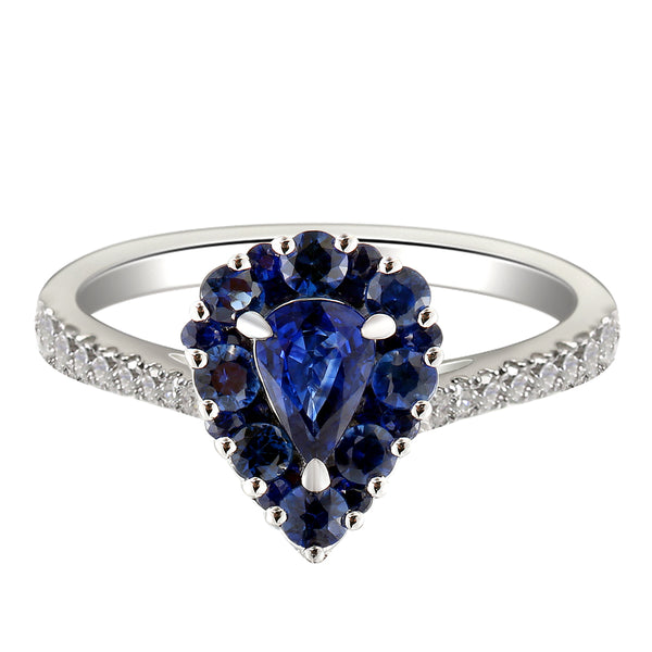 6F067886AWLRBDS 18KT Blue Sapphire Ring