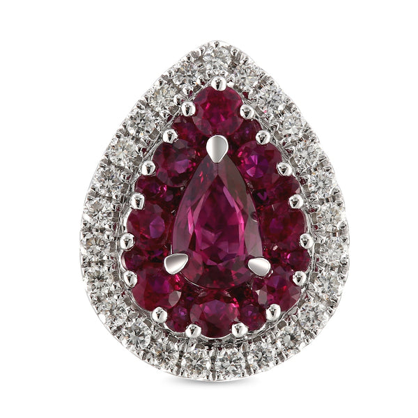 6F067889AWERDR 18KT Ruby Earring