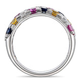 6F068263AWLRMS 18KT White Sapphire Blue Sapphire Pink Sapphire Yellow Sapphire Ring